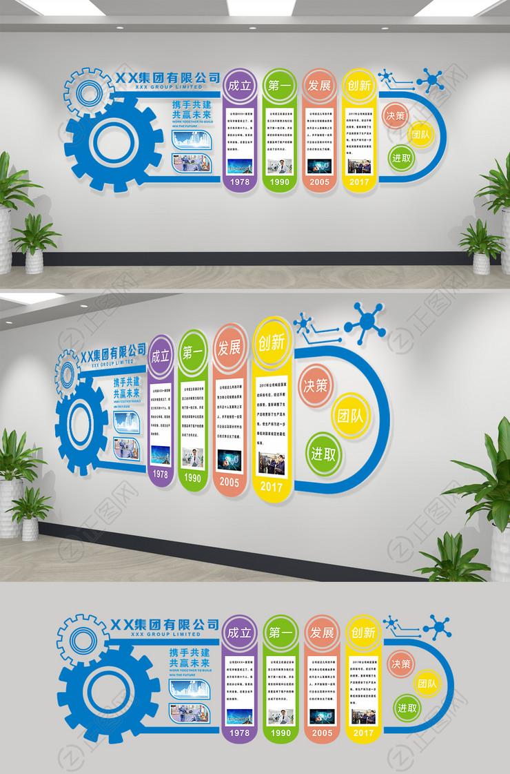 企业文化墙设计方案CDR模板下载