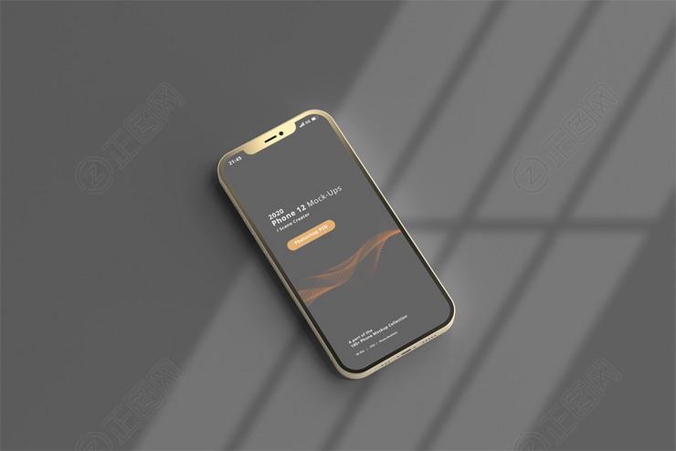 金属质感边框手机样机下载